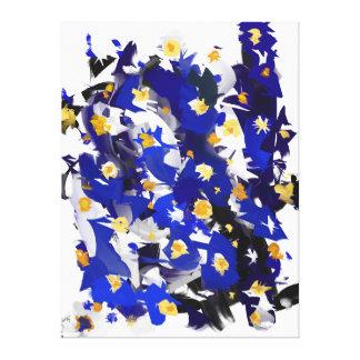 """Impression sur toile, Grand modèle, """"Blue Flowers"""""""