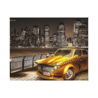 Impression sur toile taxi américain