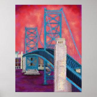 Impressions de Philly (pont de Ben Franklin au
