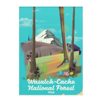 Impressions En Acrylique Affiche de vacances de l'Utah de réserve