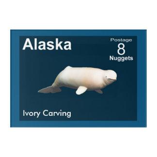 Impressions En Acrylique Beluga en ivoire - affranchissement de l'Alaska