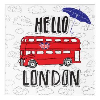 Impressions En Acrylique Bonjour signe en lettres de main de Londres | avec
