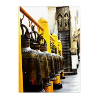 Impressions En Acrylique Carreau d'acrylique de voyage de Bells de temple