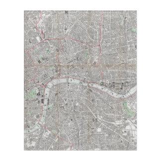 Impressions En Acrylique Carte vintage de ville de Londres
