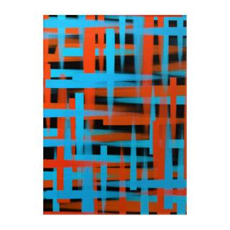 Impressions En Acrylique Courses abstraites de brosse d'huile dans orange