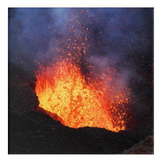 Impressions En Acrylique Fontaine de lave chaude éclatant du cratère de