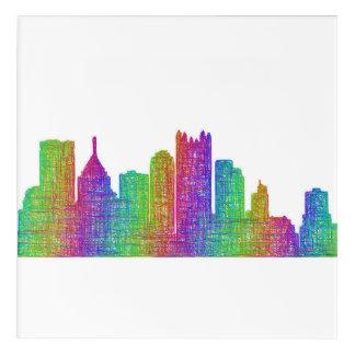 Impressions En Acrylique Horizon de Pittsburgh