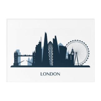 Impressions En Acrylique Horizon de ville de Londres