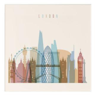 Impressions En Acrylique Horizon de ville de Londres, Angleterre |