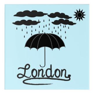 Impressions En Acrylique Londres | sous un parapluie