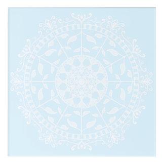 Impressions En Acrylique Mandala arctique