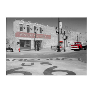 Impressions En Acrylique Photographie rouge d'éclaboussure de Winslow