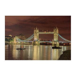 Impressions En Acrylique Pont de tour la nuit, Londres