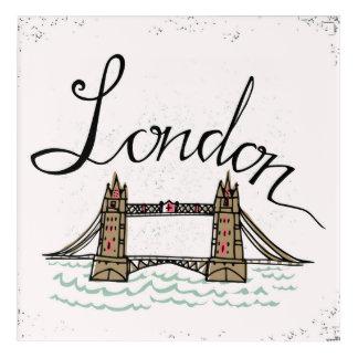 Impressions En Acrylique Pont en lettres 6 de Londres de main