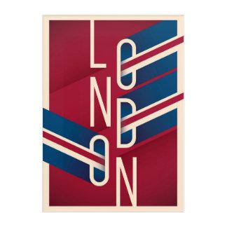 Impressions En Acrylique Rétro typographie illustrée de Londres, Angleterre