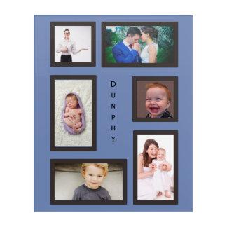 Impressions En Acrylique Six coutumes de photo avec le texte vertical