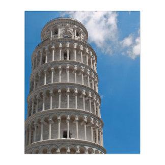 Impressions En Acrylique Tour penchée de Pise en Italie