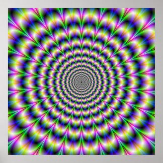 Impulsion psychédélique en affiche pourpre et vert