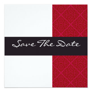 IN Modieuze huwelijksAankondiging 13,3x13,3 Vierkante Uitnodiging Kaart