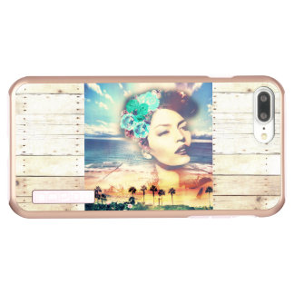 Incipio DualPro Shine iPhone 7 Plus Case Femme côtière d'été de paumes de la Californie de