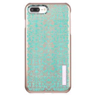 Incipio DualPro Shine iPhone 7 Plus Case Le motif âgé par damassé florale d'impression de
