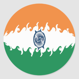 India Gnarly Flag Stickers