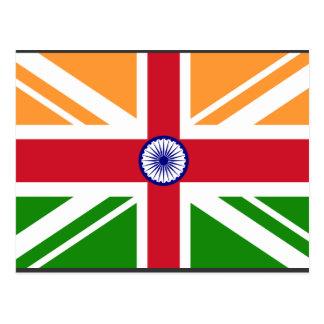Indien anglo Indentity, Inde Carte Postale