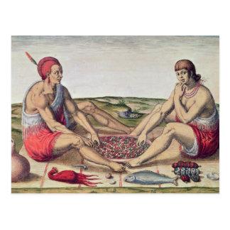 Indiens mangeant un repas carte postale