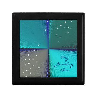 Infini de bleu de motif coffret cadeau