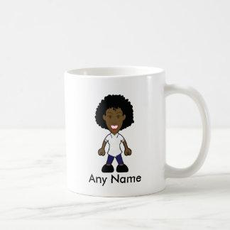 Infirmière féminine de physiothérapeute noir mug