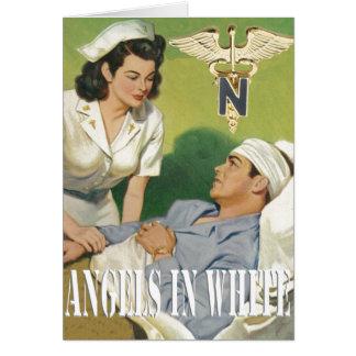 Infirmières de militaires - anges dans la carte