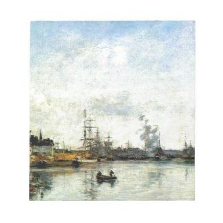 Ingang aan de haven door Eugene Boudin Notitieblok