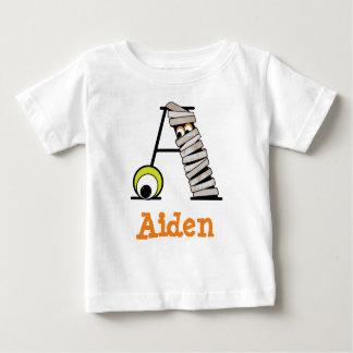 Initiale A de monogramme de la chemise W de maman T-shirt Pour Bébé