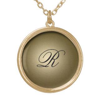Initiale brillante d'or pendentifs personnalisés