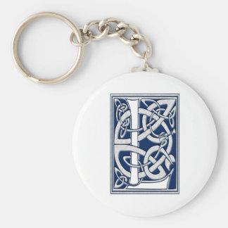 Initiale celtique L de dragon Porte-clé Rond