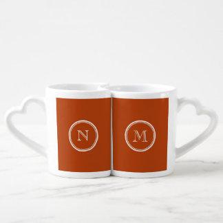 Initiale colorée à extrémité élevé de monogramme mug