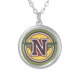 """Initiale de la lettre """"N"""" de monogramme de Deco Pendentif Rond"""