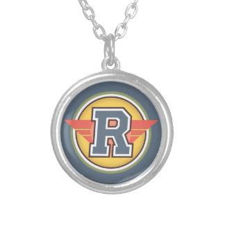 """Initiale de la lettre """"R"""" de monogramme de Deco Pendentif Rond"""