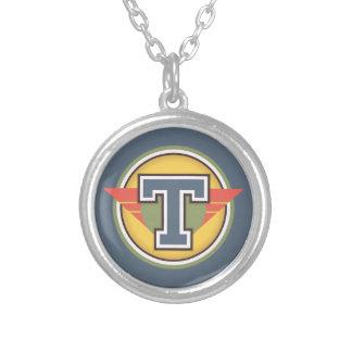 """Initiale de la lettre """"T"""" de monogramme de Deco Pendentif Rond"""