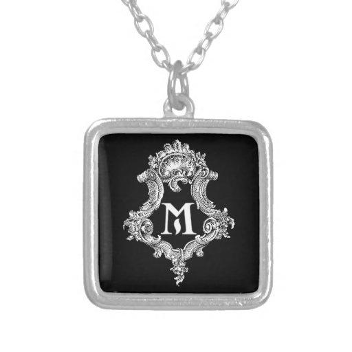 Initiale de monogramme de M Bijouterie Fantaisie