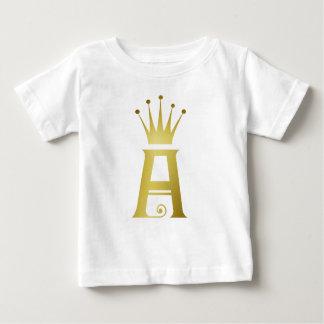 Initiale d'or une chemise de dessus de bébé de t-shirt pour bébé