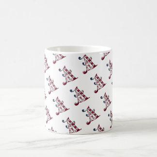 Initiale élégante un monogramme de motif de mug