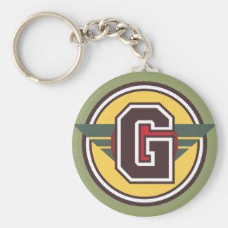 """Initiale faite sur commande de la lettre """"G"""" de Porte-clé Rond"""