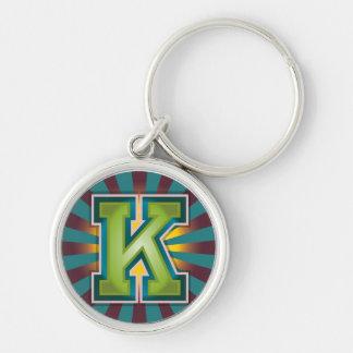 """Initiale faite sur commande de la lettre """"K"""" Porte-clés"""