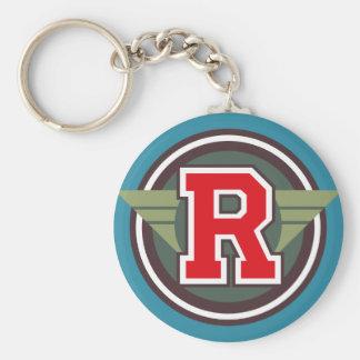 """Initiale faite sur commande de la lettre """"R"""" de Porte-clé Rond"""