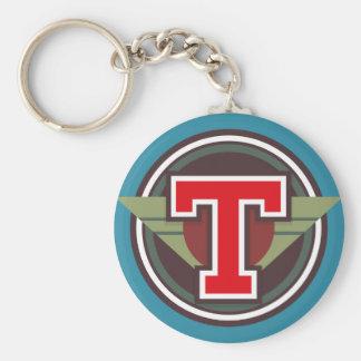"""Initiale faite sur commande de la lettre """"T"""" de Porte-clé Rond"""