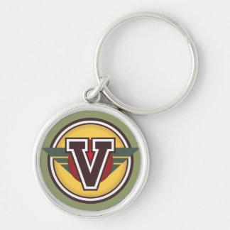 """Initiale faite sur commande de la lettre """"V"""" de Porte-clés"""