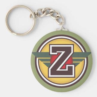 """Initiale faite sur commande de la lettre """"Z"""" de Porte-clé Rond"""