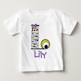 Initiale L de monogramme de maman de la chemise W T-shirt Pour Bébé