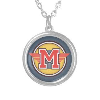 """Initiale """"M """" de monogramme de Deco Pendentif Rond"""